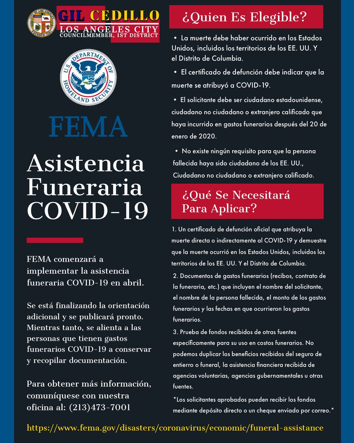 Funeral Assistance Flyer SPANISH
