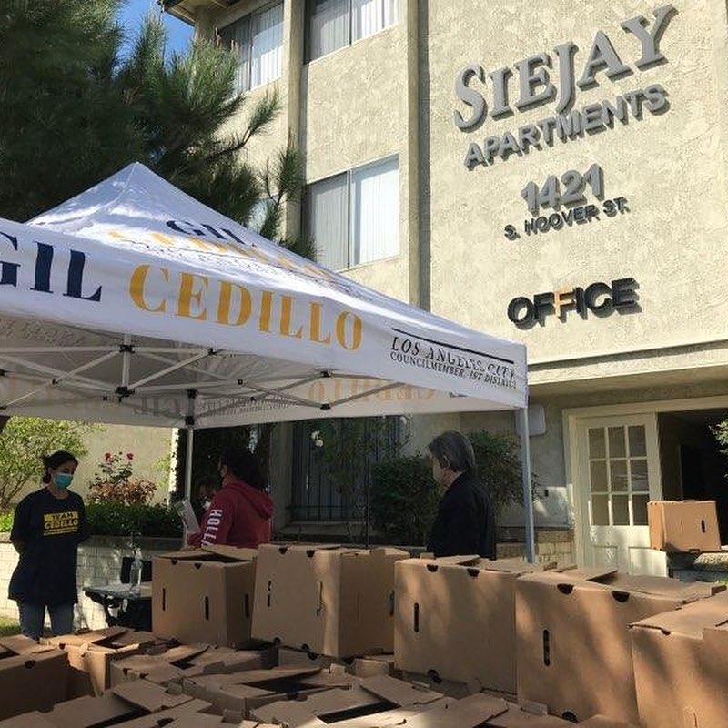 Team Cedillo, CCNP and Andrea Castro distributed produce to hundreds of neighbors in Siejay Apartments 3-26-2021 Photo 1