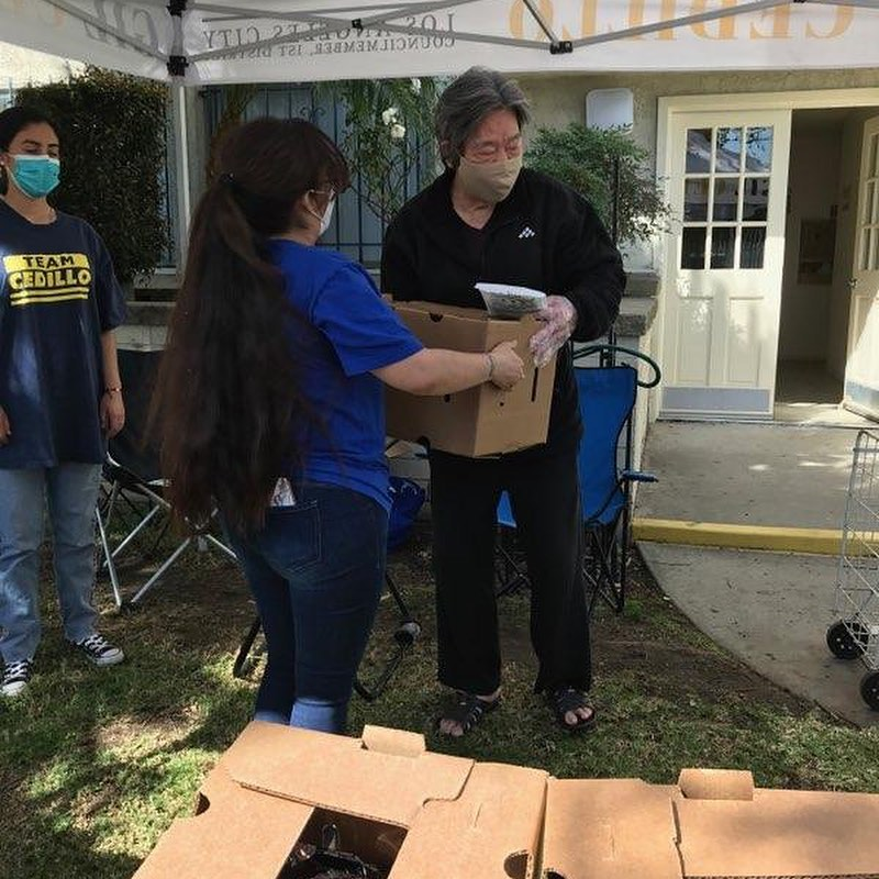 Team Cedillo, CCNP and Andrea Castro distributed produce to hundreds of neighbors in Siejay Apartments 3-26-2021 Photo 2