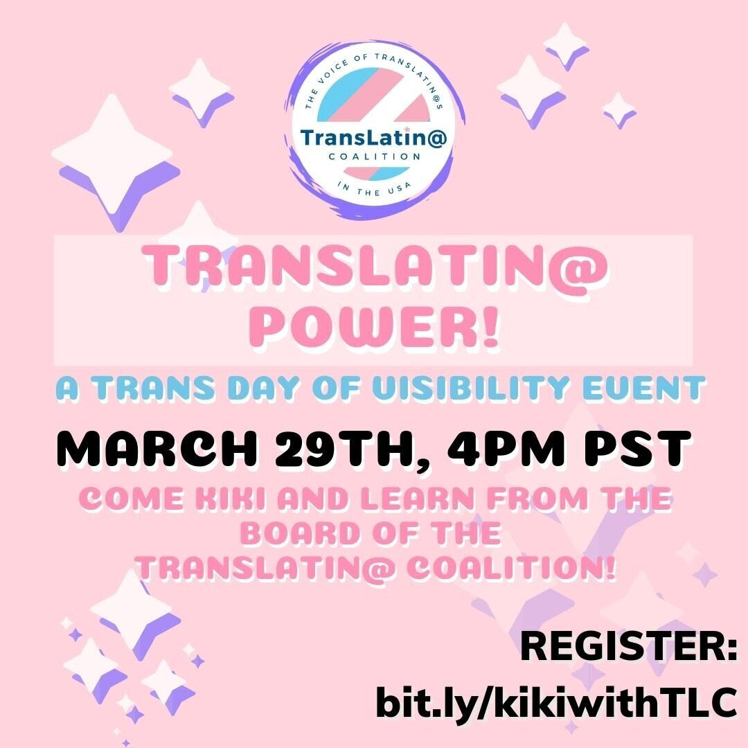 Trans Day of Visability Event 3-29-2021
