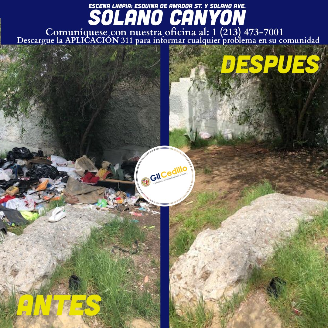 SPANISH Team Cedillo's Strike Team cleaned the corner of Amador St. and Solano Ave. 3-25-2021