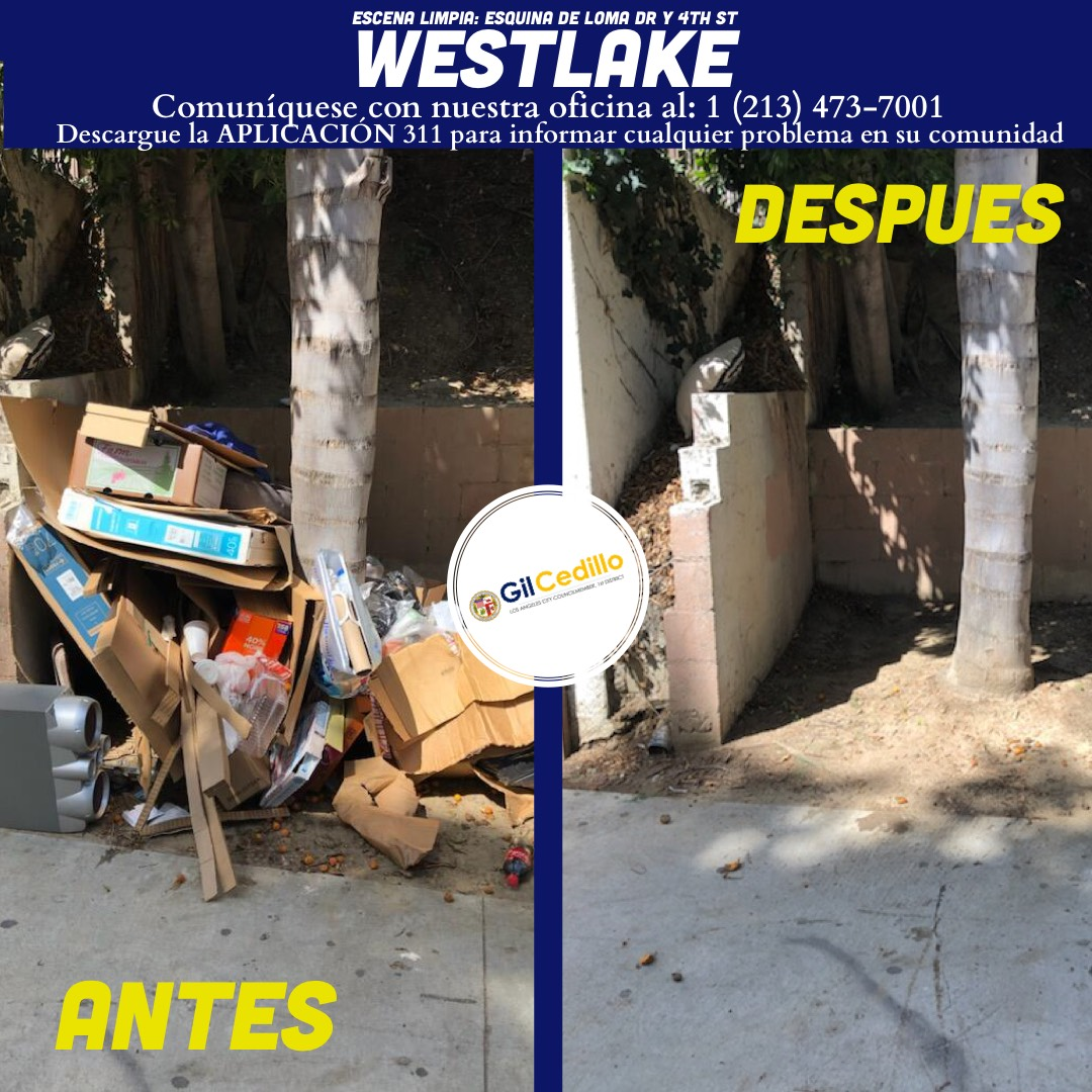 SPANISH Team Cedillo's Strike Team is in full force today, Corner of Loma Dr and 4th St in Westlake 3-22-2021