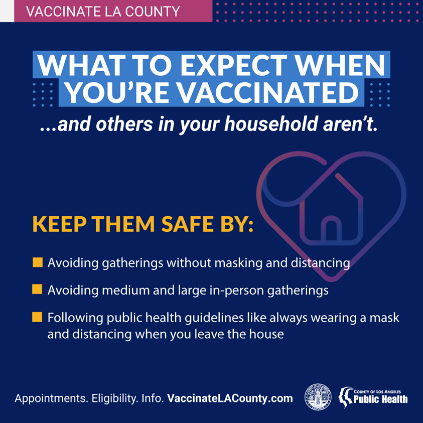 What to Expect when you are vaccinated and others in your household are not
