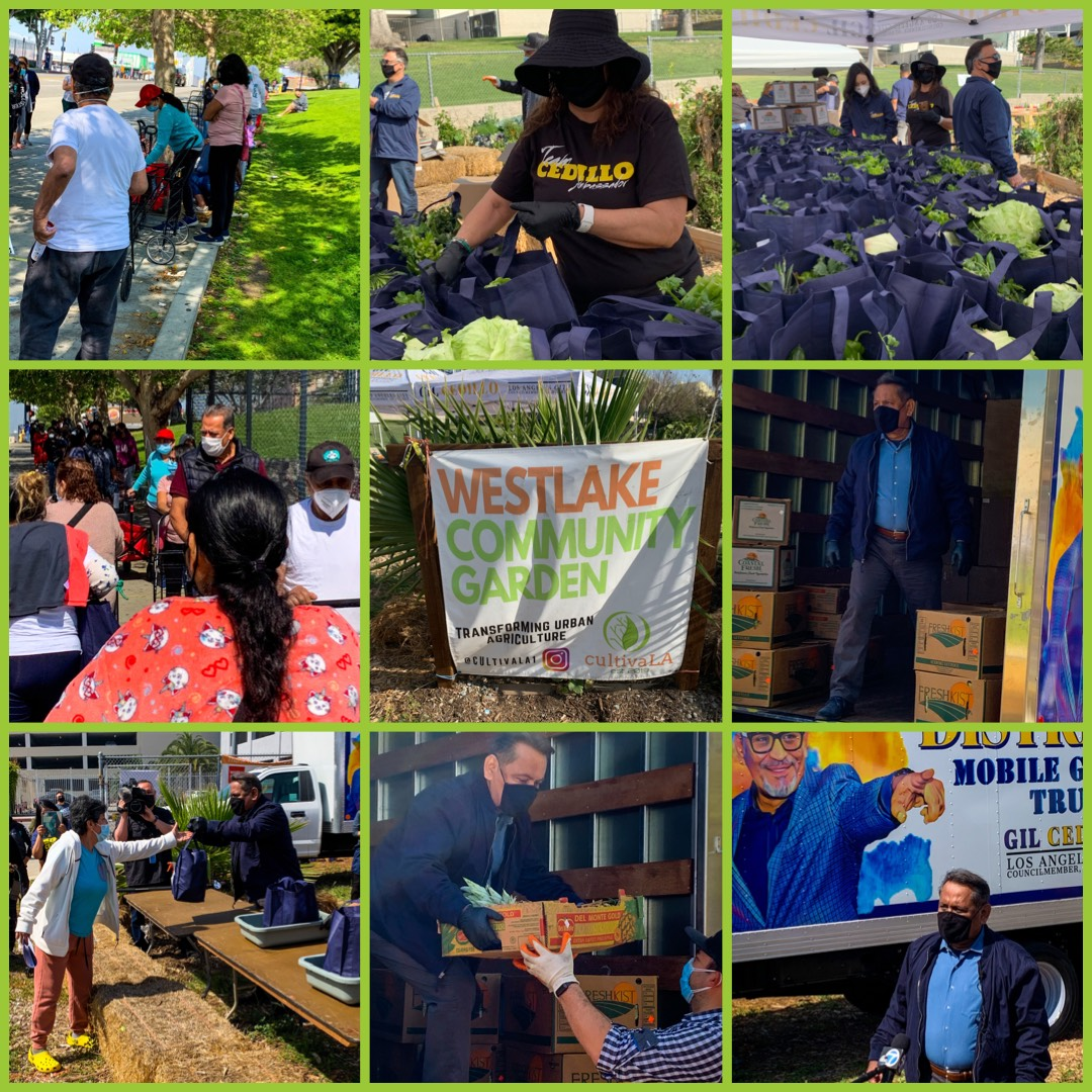 Councilmember Cedillo's Mobile Food Truck Launch Photo Collage 4-16-2021