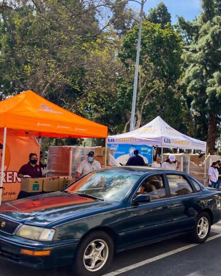 MacArthur Park & Westlake South NC's & Guatemala Chamber Food distribution in MacArthur Park 4-10-2021 Photo 1