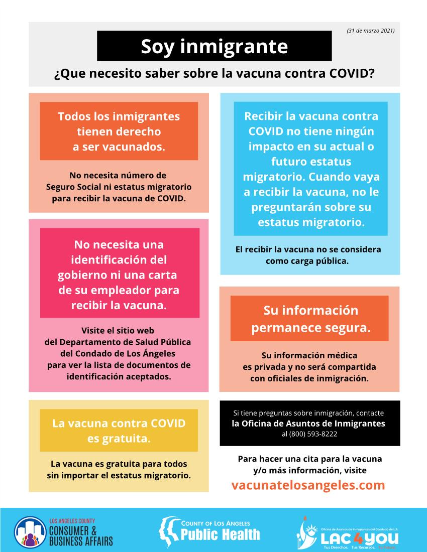 Immigrant Vaxx flyer (Spanish)