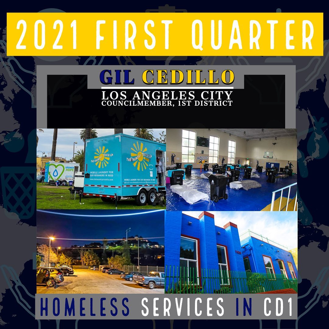 Homeless Services in CD 1 - 2021 First Quarter
