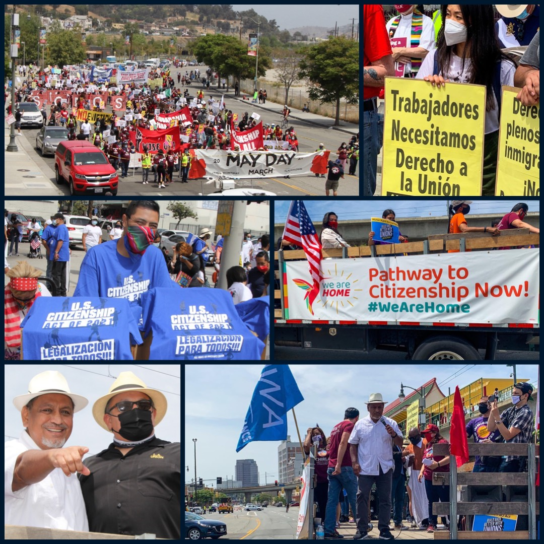 May Day March Collage 5-1-2021