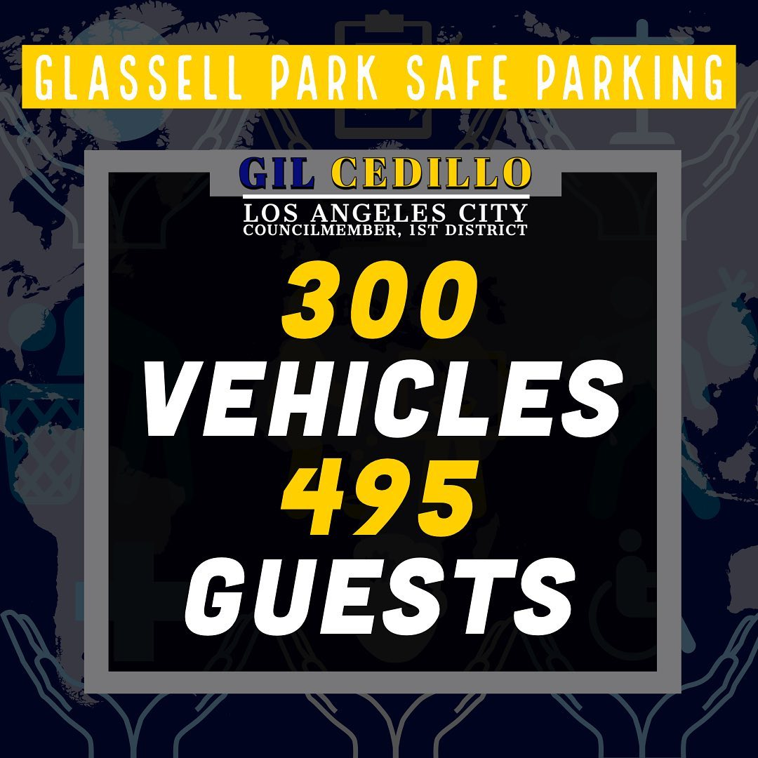 Safe Parking Site in Glassell Park 300 vehicles y 495 visitors