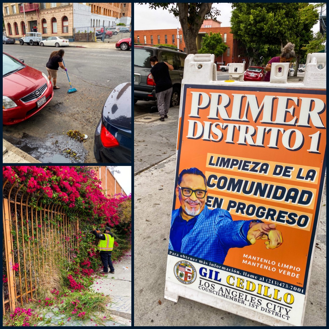 CD1 Community Clean up on 8th St. to beautify the neighborhood in Westlake 5-12-2021