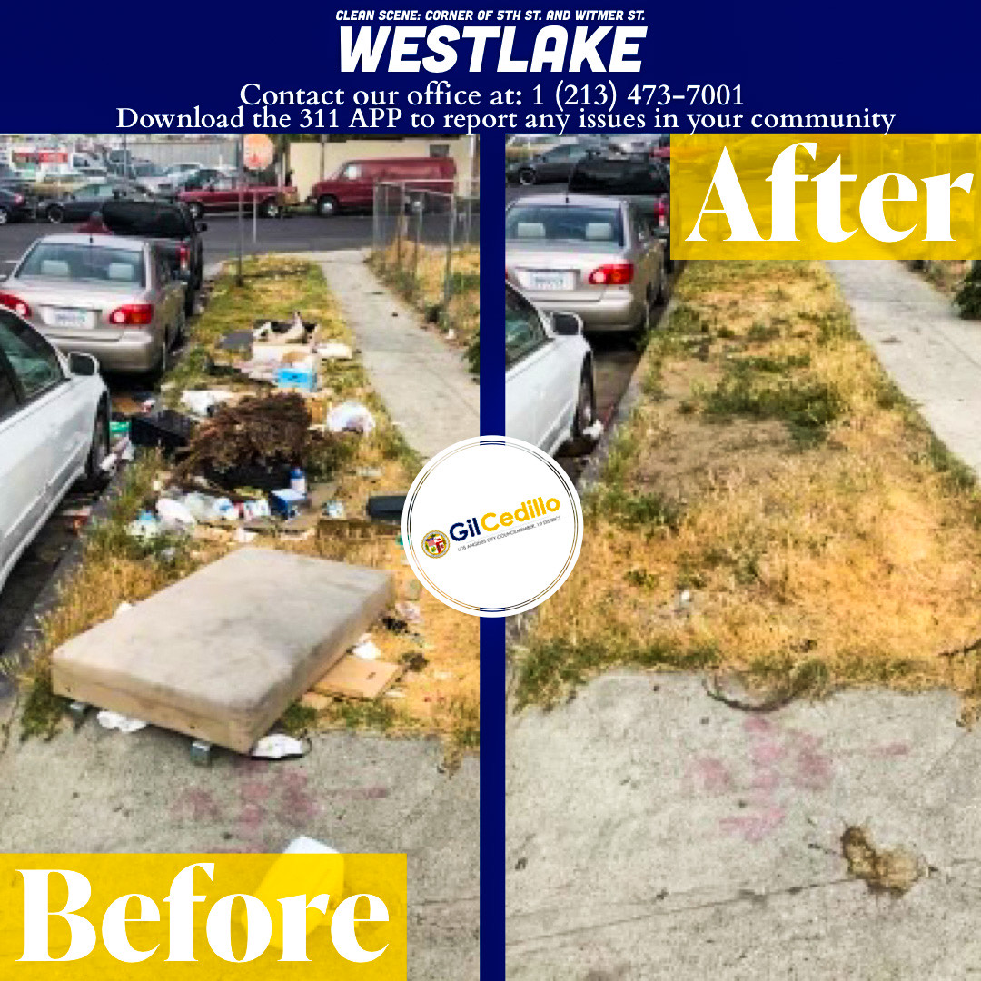CD 1 Strike Team Cleans Up 5th St. and Witmer St. of trash and debris 5-28-2021 #1