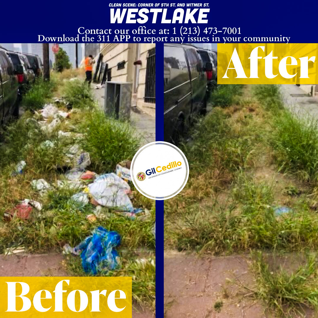 CD 1 Strike Team Cleans Up 5th St. and Witmer St. of trash and debris 5-28-2021 #2