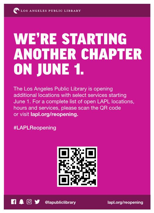 Library Reopening English