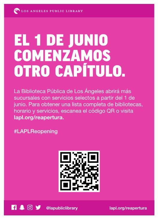 Library Reopening Spanish
