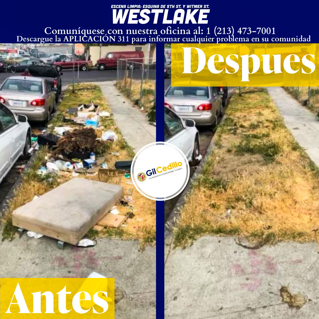 SPANISH CD 1 Strike Team Cleans Up 5th St. and Witmer St. of trash and debris 5-28-2021 #1