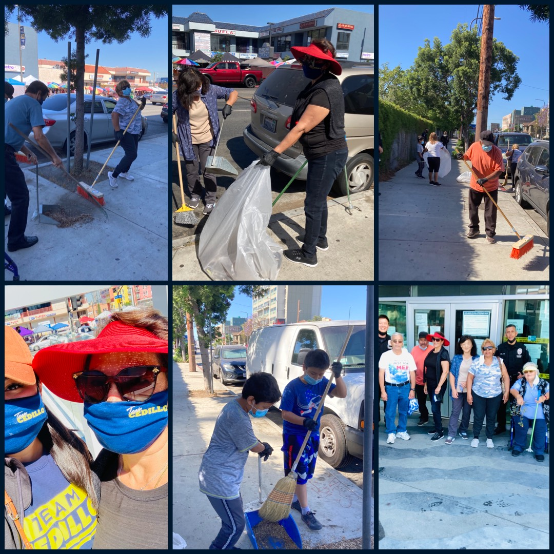 Berendo Neighborhood Assoc, Olympic Division, Team Cedillo community clean up 6-12-2021 COLLAGE