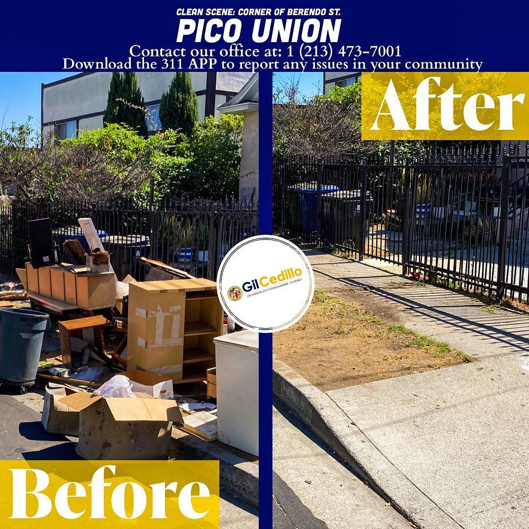 Team Cedillo's strike team is in full effect today, corner of Berendo St. in Pico Union 6-9-2021