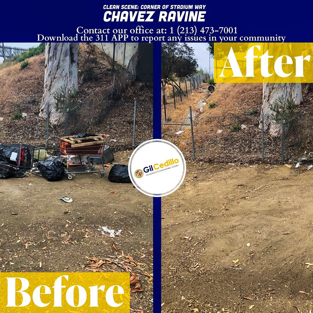 Team Cedillo's strike team removed bulky items and debris from the corner of Stadium Way 6-8-2021