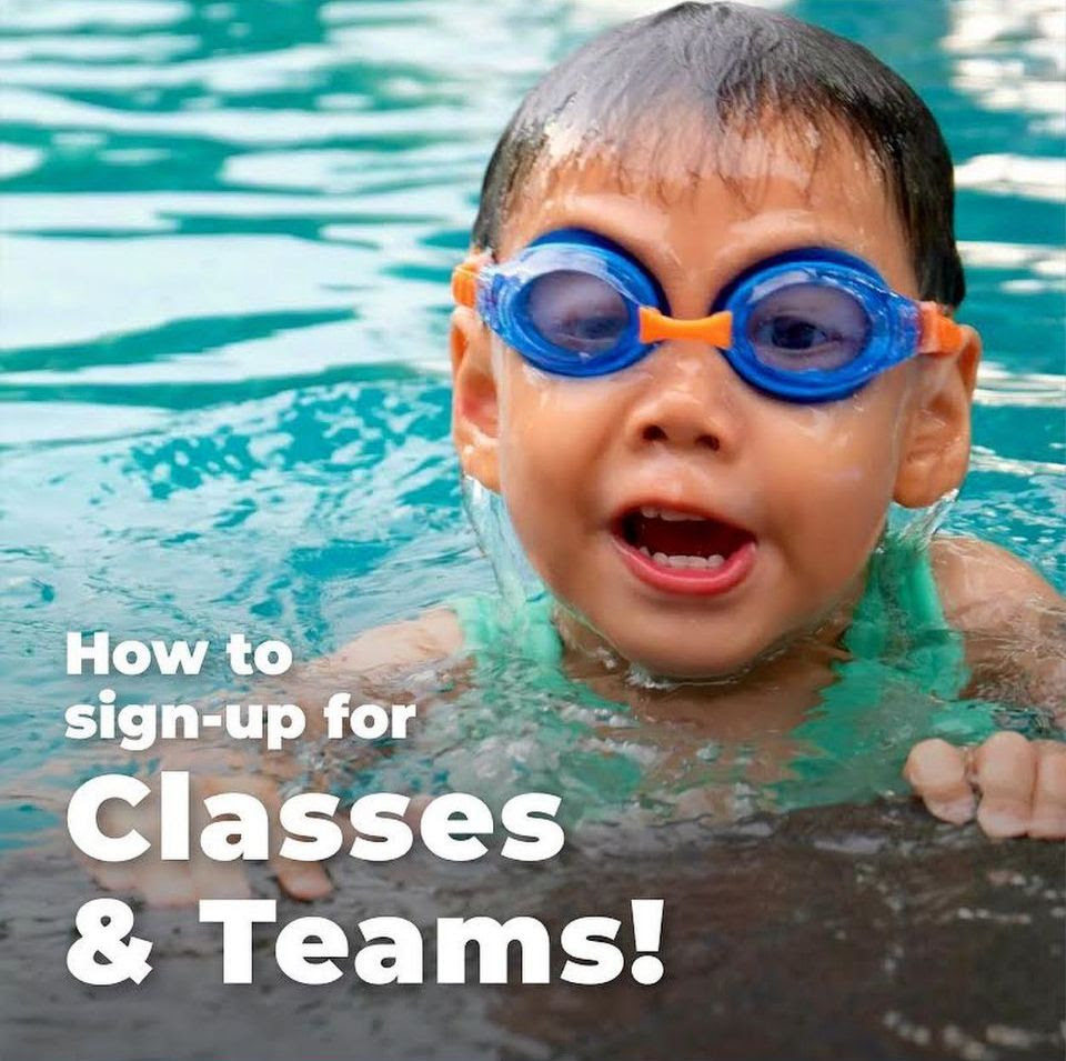 sign up for RAP Swim classes and Teams