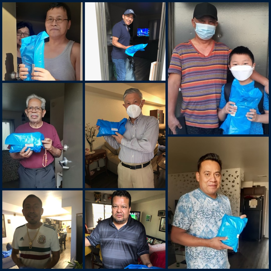 Councilmember Cedillo Honors CD 1 Fathers with a small token of appreciation 6-19-2021 COLLAGE