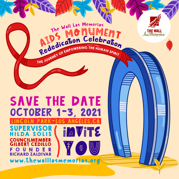 Save the Date AIDS Monument Dedication