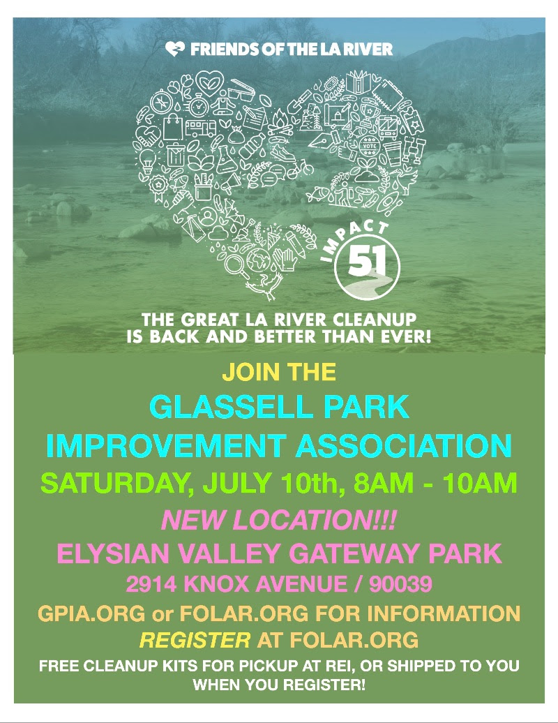 Glassell Park Improvement Assoc River Clean Up 7-10-2021