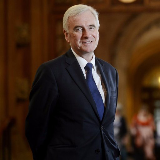 Rt Hon John McDonnell, Labour MP for Hayes and Harlington & Shadow Chancellor