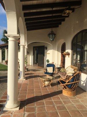Warm, sunny patio