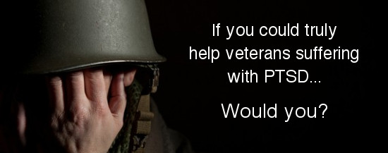 If you could truly help veterans suffering w/PTSD, would you?