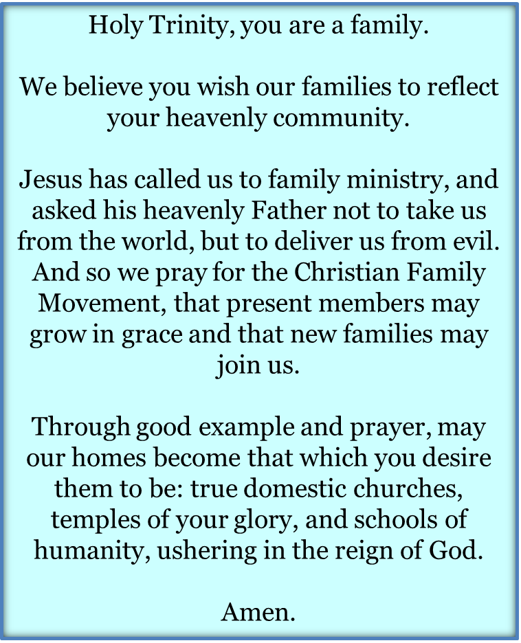About - Christian Family Movement