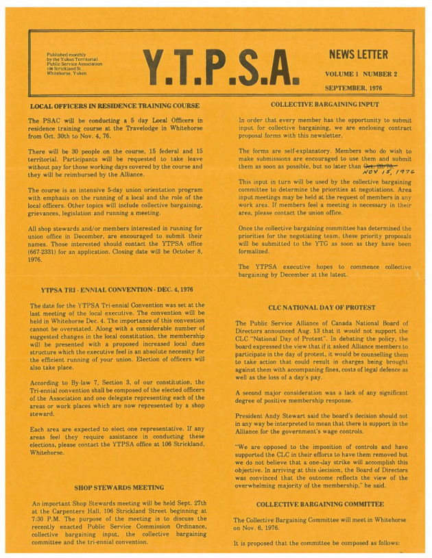 YTPSA Newsletter September 1976-1