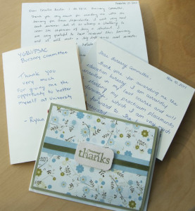 bursary thank you notes_1
