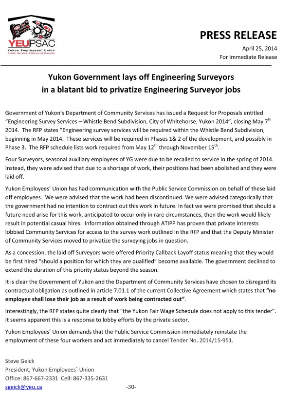 YG Surveyor Jobs Privatized 2014 PR