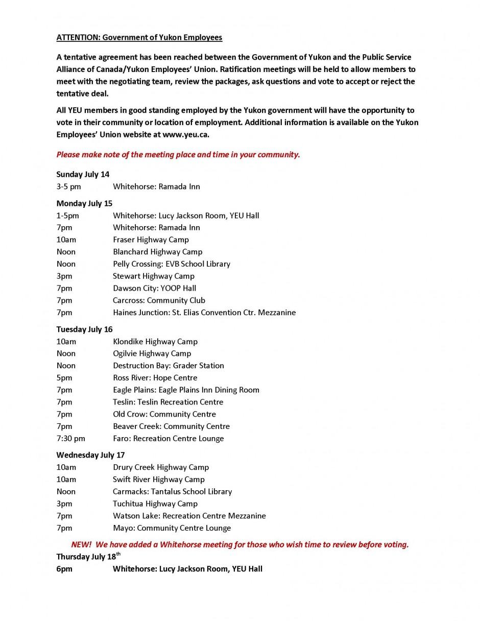 Master Schedule List Ratification 2013