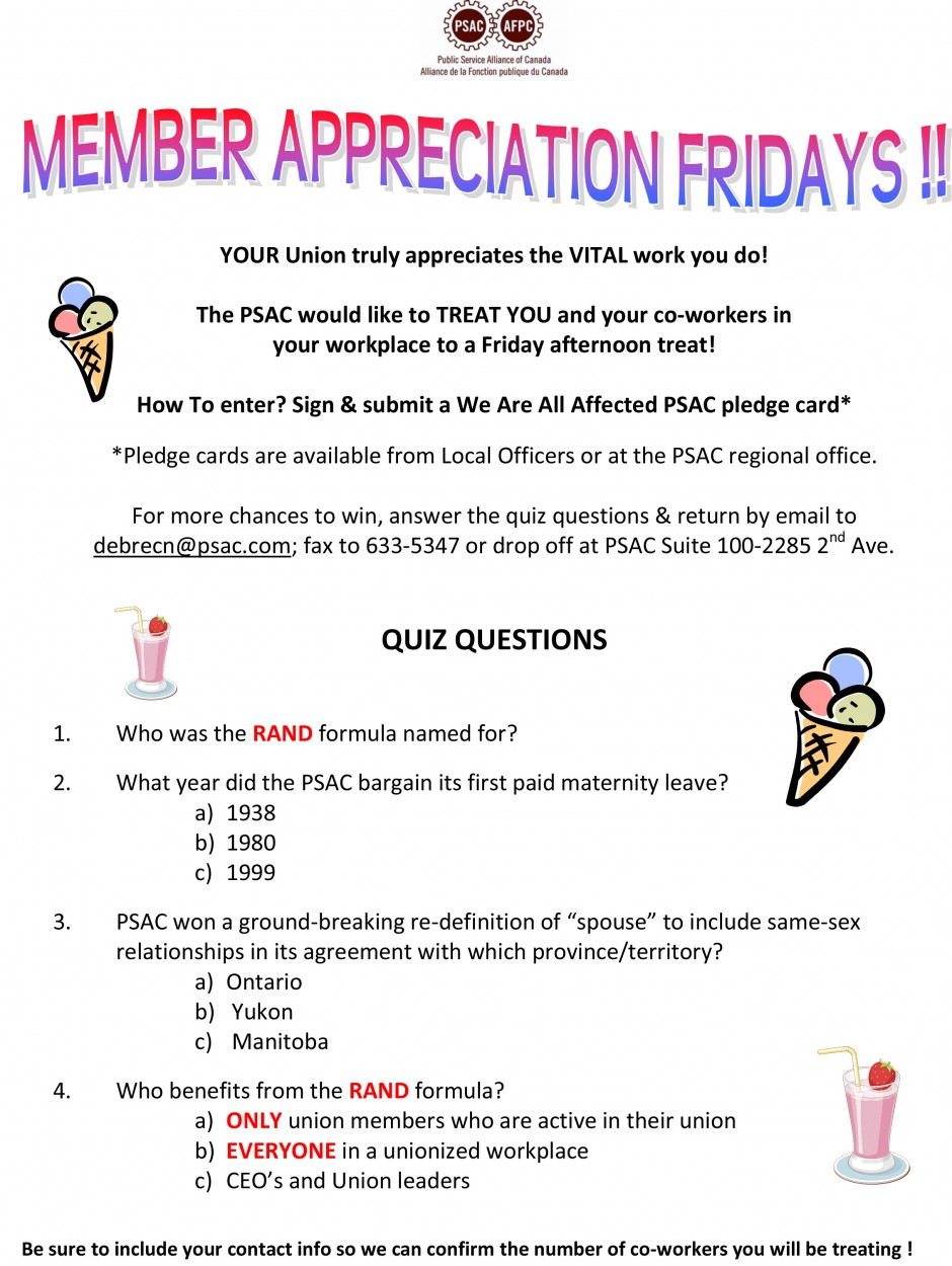 Member Appreciation Fridays poster