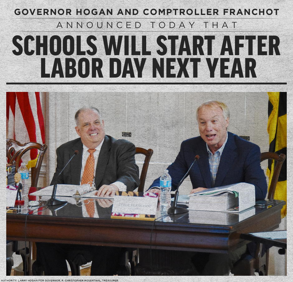 Start School After Labor Day Announcement