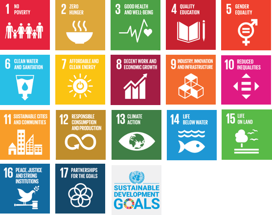 Icons representing all 17 Sustainable Development Goals