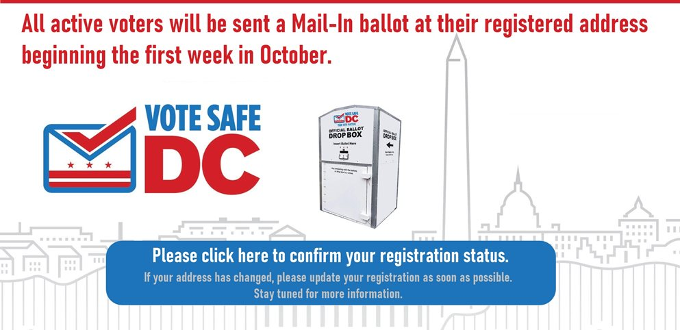 Board of Elections Vote Safe DC