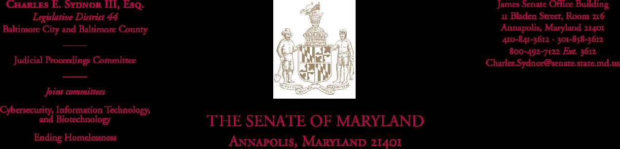 Charles Sydnor Senate Letterhead