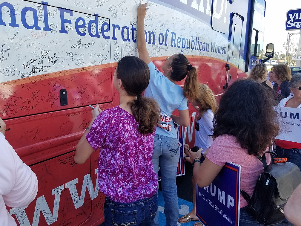 Signing the bus