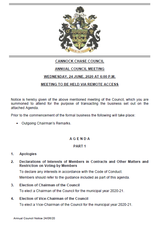 AGM Front Page
