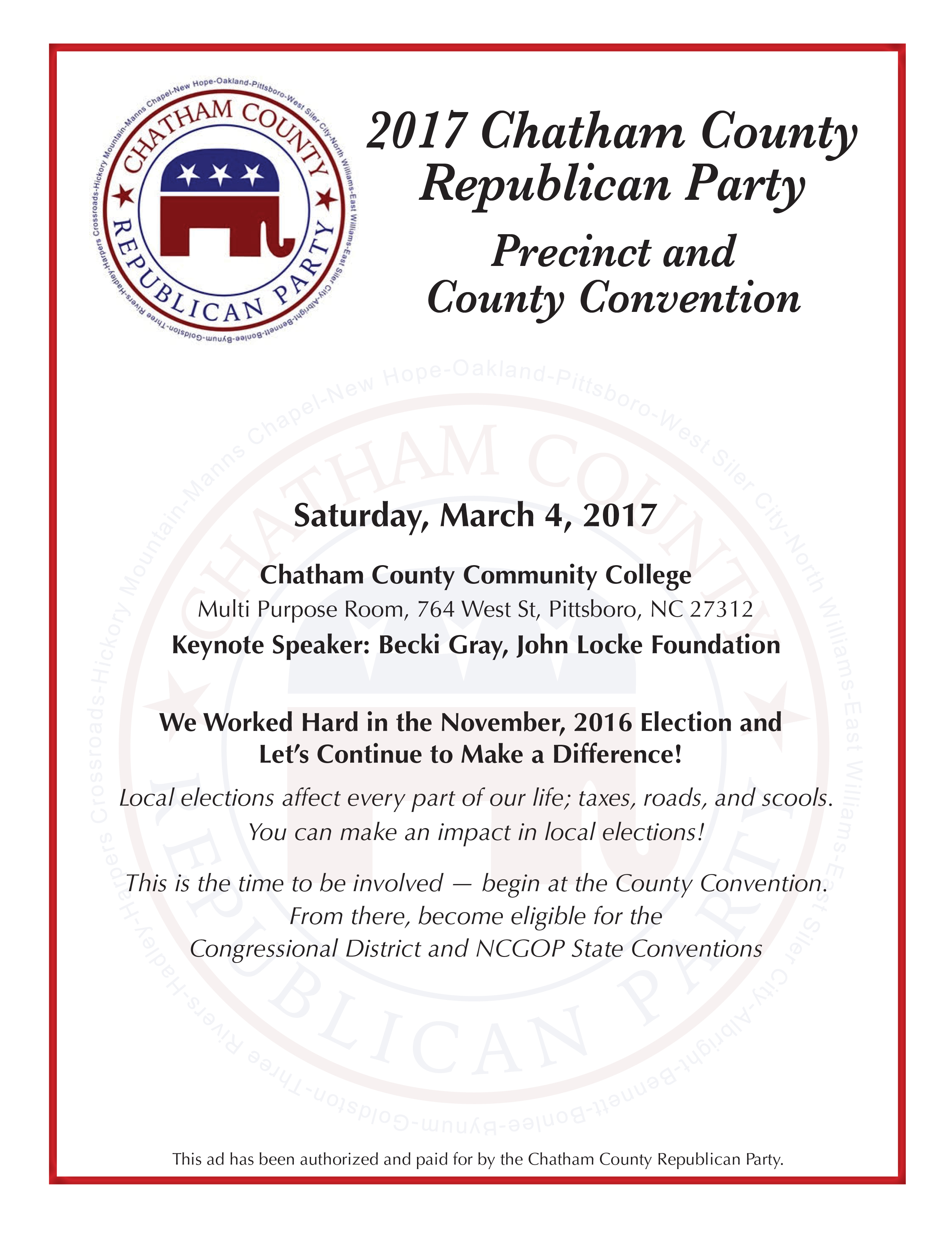 2017 County Convention