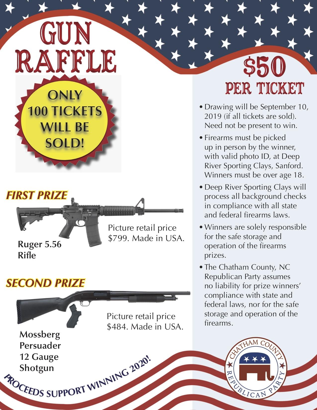 2019 Gun Raffle Flyer