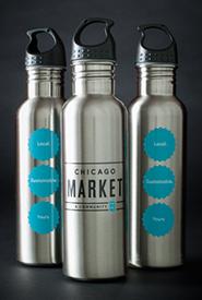 Chicago Market water bottle