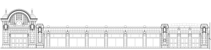 Gerber Building Front Door and East Face