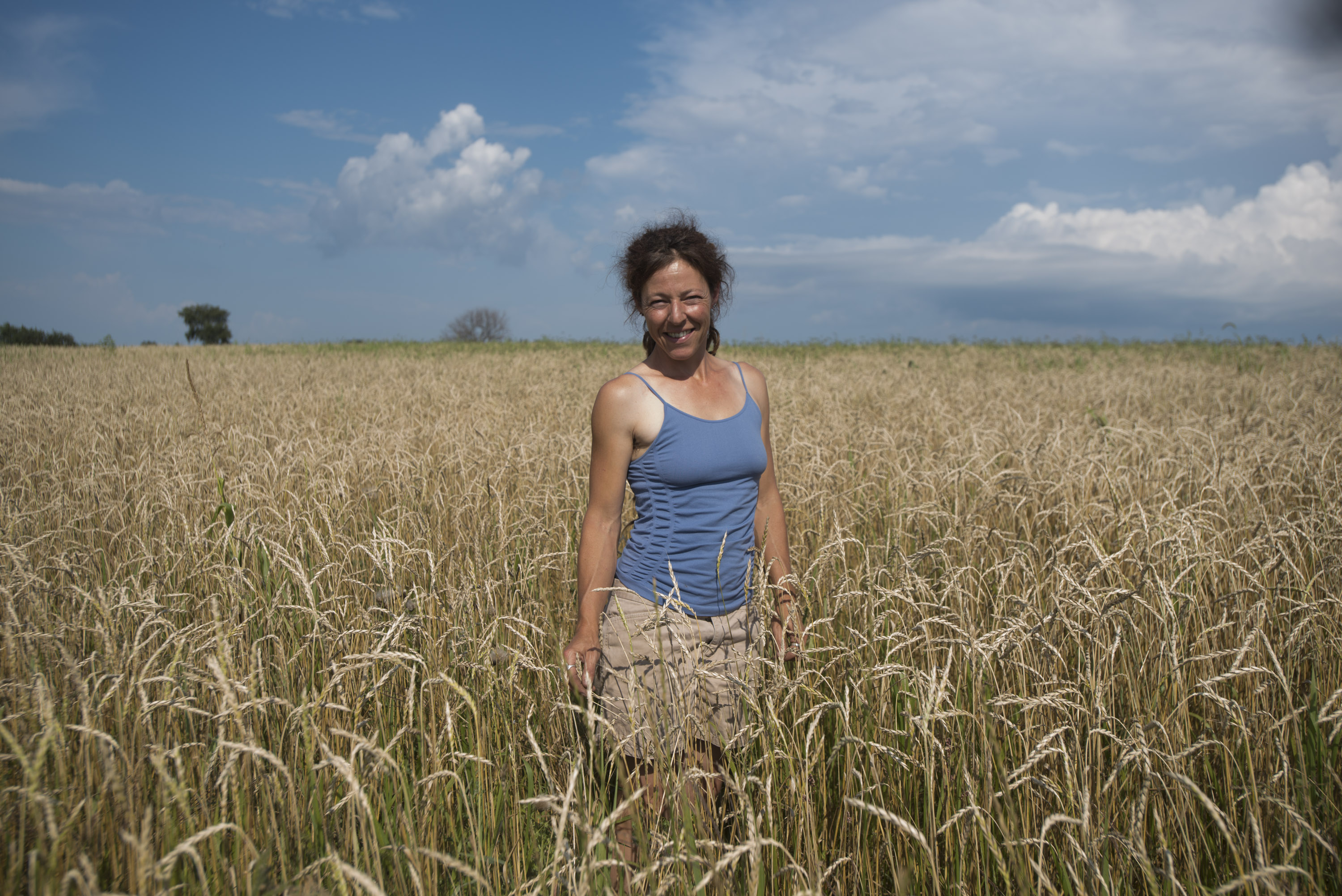 Andrea Hazzard in a Field