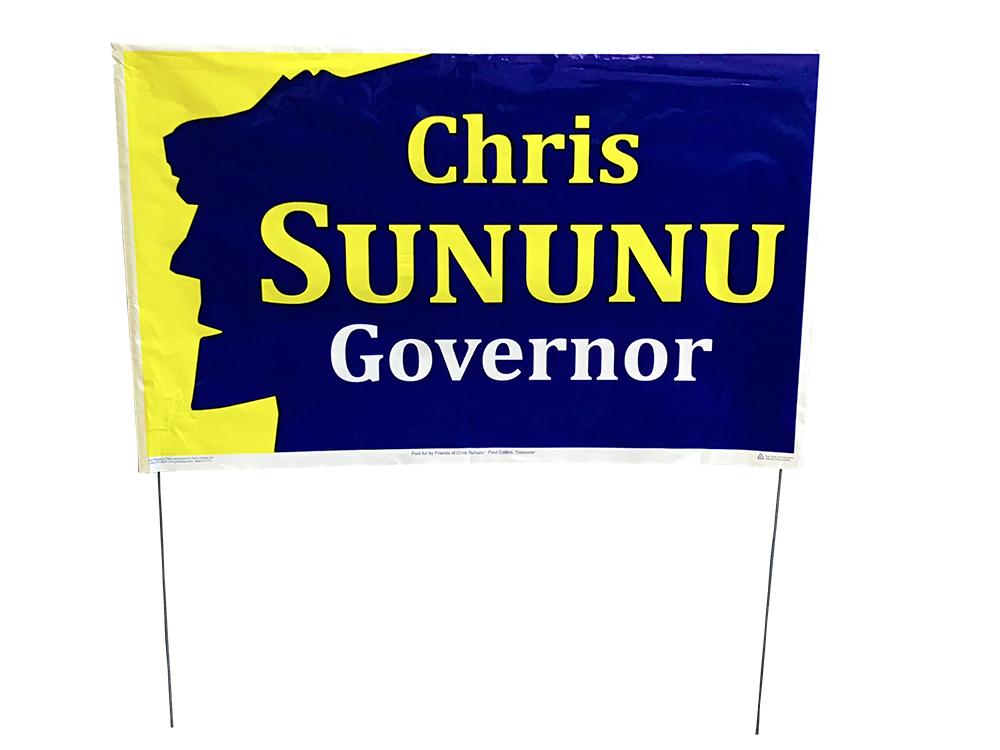 Chris Sununu for Governor - Yard Sign