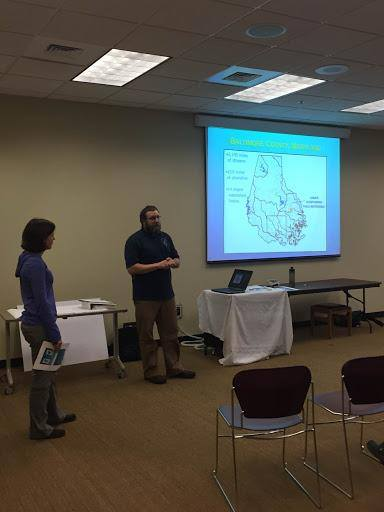 miele-water-meeting.jpgDelegate Miele attends community feedback meeting on stream restoration project in Perry Hall