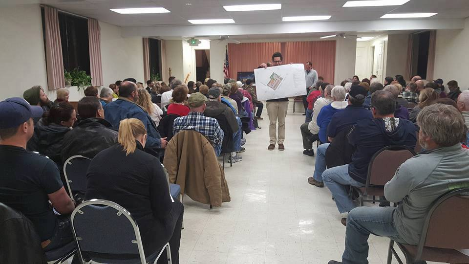 Delegate Miele attends town hall in Overlea