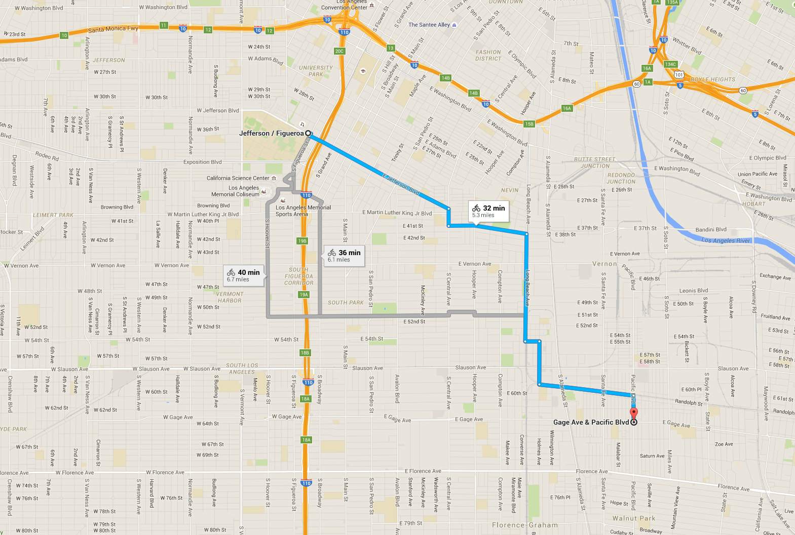 Getting to the Route and Parking CicLAvia